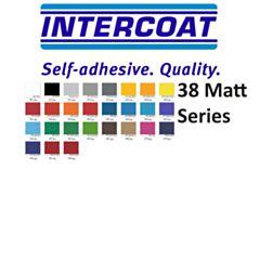 Kleurenkaart Intercoat stickerfolie Matt