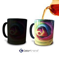 Calortrans Magic Mug veranderd van kleur met hete drank!